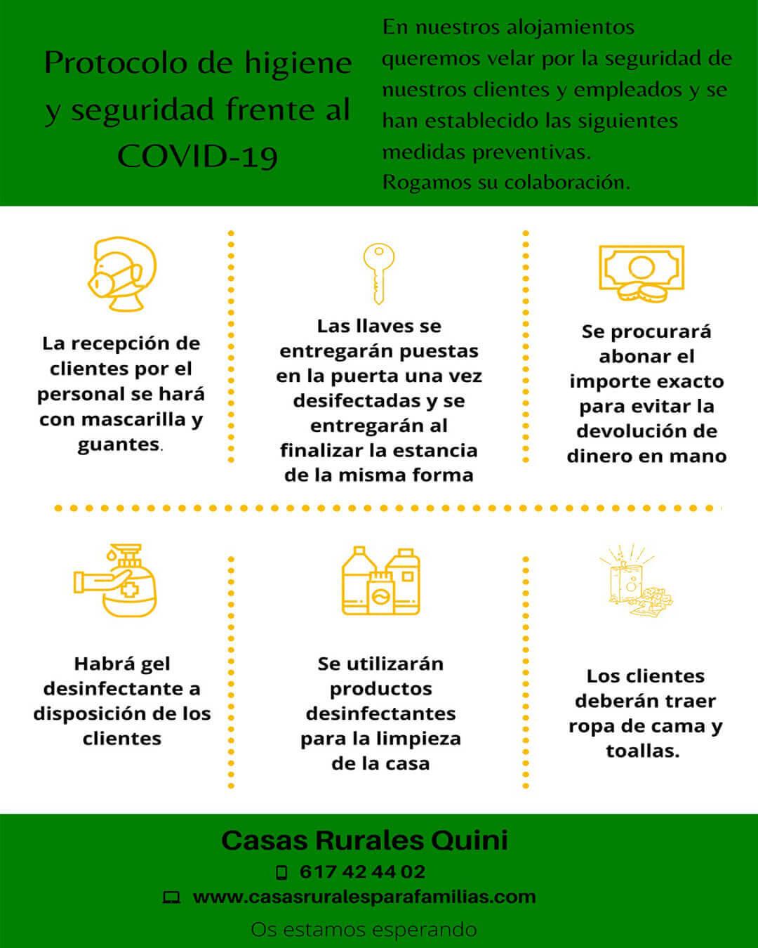cartel medidas covid casas rurales ok