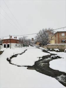 Burgohondo con nieve